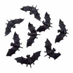 8x plastic vleermuizen 10 halloween dieren