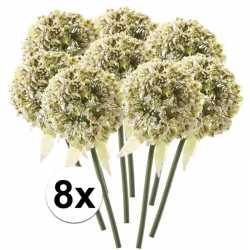 8x witte sierui kunstbloemen 70