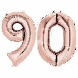 90 jaar rose gouden folie ballonnen 88 leeftijd/cijfer