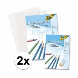 A4 overtrekpapier / transparant tekenpapier 50 vellen