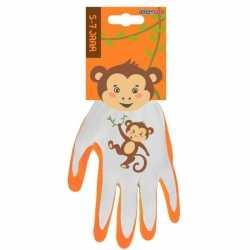 Aap kinderhandschoenen / tuinhandschoenen 5 7 jaar