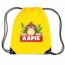 Aapie het aapje rugtas / gymtas geel kinderen