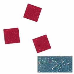 Acryl glitter mozaiek blauw 1