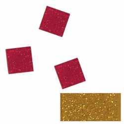 Acryl glitter mozaiek goud 1