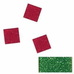 Acryl glitter mozaiek groen 1