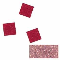 Acryl glitter mozaiek roze 1