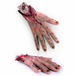 Afgehakte bloederige hand