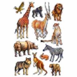 Afrikaanse dieren stickers 1 vel