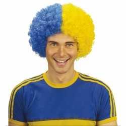 Afropruik blauw / geel