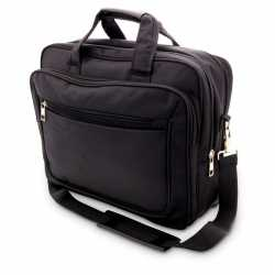 Aktetas/laptoptas 15,6 inch zwart 20 liter