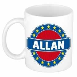 Allan naam koffie mok / beker 300 ml