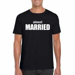Almost married tekst t shirt zwart heren