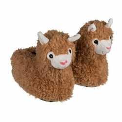 Alpaca/lama pantoffels kinderen