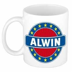 Alwin naam koffie mok / beker 300 ml