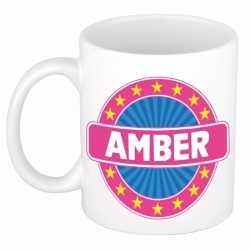 Amber naam koffie mok / beker 300 ml