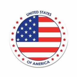Amerika sticker rond 14,8
