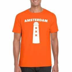 Amsterdammertje shirt oranje heren
