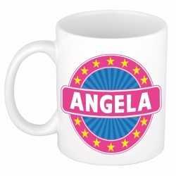 Angela naam koffie mok / beker 300 ml