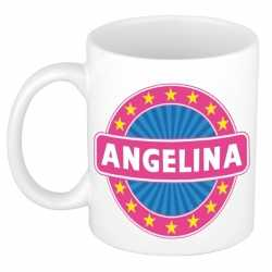Angelina naam koffie mok / beker 300 ml