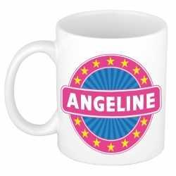Angeline naam koffie mok / beker 300 ml
