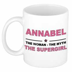 Annabel the woman, the myth the supergirl cadeau koffie mok / thee beker 300 ml