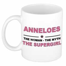 Anneloes the woman, the myth the supergirl cadeau koffie mok / thee beker 300 ml