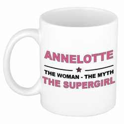 Annelotte the woman, the myth the supergirl cadeau koffie mok / thee beker 300 ml