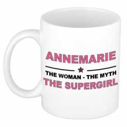 Annemarie the woman, the myth the supergirl cadeau koffie mok / thee beker 300 ml