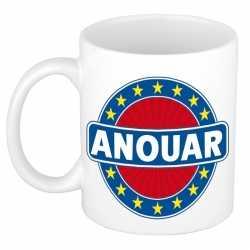 Anouar naam koffie mok / beker 300 ml