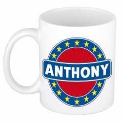 Anthony naam koffie mok / beker 300 ml