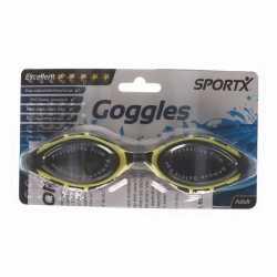 Anti chloor zwembril zwart/geel volwassenen