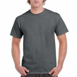 Antraciet grijs katoenen shirt volwassenen