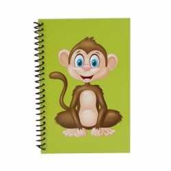 Apen notitieboekje groen 18cm
