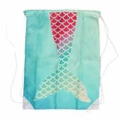 Aqua blauw gymtasje zeemeerminnen staart