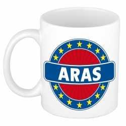 Aras naam koffie mok / beker 300 ml