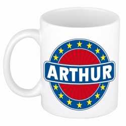 Arthur naam koffie mok / beker 300 ml