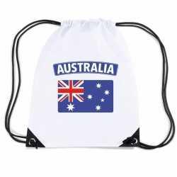 Australie nylon rugzak wit australische vlag