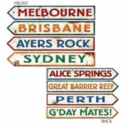 Australie straatbord decoraties