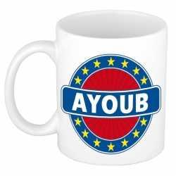 Ayoub naam koffie mok / beker 300 ml
