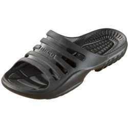 Bad/sauna slippers voetbed zwart dames