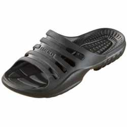 Bad/sauna slippers voetbed zwart heren