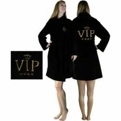 Badjas zwart VIP