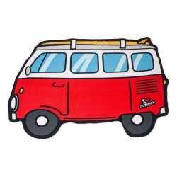 Badlaken rode camper busje 150 bij 110