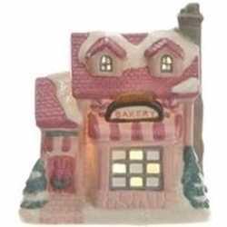 Bakkerij kerstdorp huisje 10 led verlichting