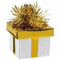 Ballon gewicht cadeau goud/zilver 175 gr