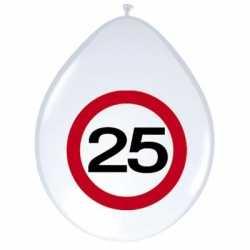 Ballonnen 25 jaar verkeersbord