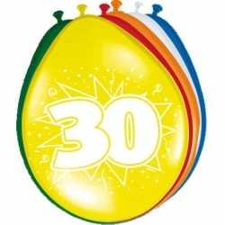 Ballonnen 30 jaar 8 stuks