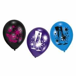 Ballonnen feestelijke opdruk 6 stuks
