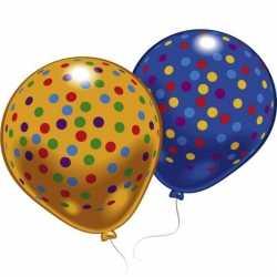 Ballonnen gekleurde stippen 8 stuks