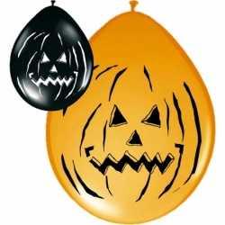 Ballonnen Halloween zwart oranje